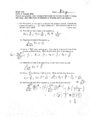 Exam C Summer 2012 Solutions on Calculus