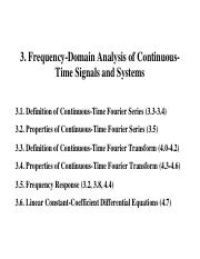3. Frequency-Domain Analysis of Continuous-Time Signals and Systems