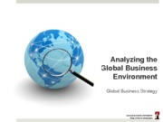 Chapter 2b Analyzing the Global Business environment - Industry