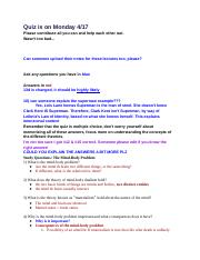 PHIL 100 Quiz 2 Study Guide