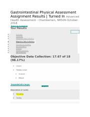 Gastrointestinal Physical Assessment - Objective Data Collection.docx