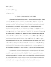 Philosophy- The Divine Command Theory Essay
