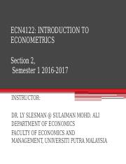 Lecture Slide_ECN4122_INTRO TO ECONOMETRIC_APPENDIX ON CONCEPT OF REGRESSION_DETAIL.pptx