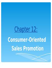 NEW Session  12 - Consumer Oriented Sales Promotion