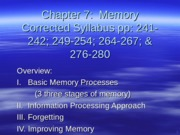Psychology 201 Chapter 7 Memory Scholar Revised Spring 2012