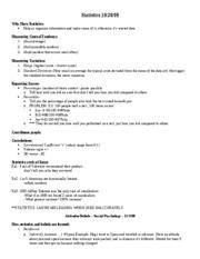 Psychology Class Notes Final Exam