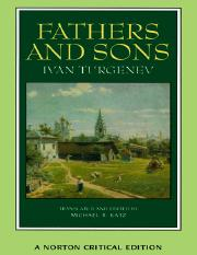 Ivan Turgenev, Michael R. Katz (Translator) - Fathers and Sons (Norton Critical Editions)-W. W. Nort