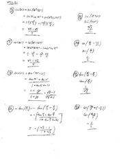 Homework 5 Solution Summer 2014 on Pre-Calculus