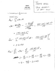 STAT 490 F11 Quiz 2 Solutions