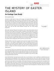 13 - The Mystery of Easter Island - An Ecology Case Study ...