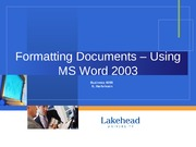 Formatting Documents
