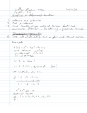 College Algebra Notes - 3.4 - Graphing a Polynomial Function