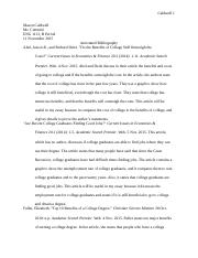 Comp 1 Effect Essay Annotated Bibliography