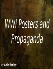 WWI Posters and Propaganda.pptx