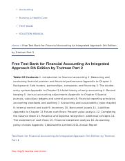 free test bank for financial accounting an integrated approach 5th rh coursehero com Financial Accounting 3rd Edition Financial Accounting 7th Edition