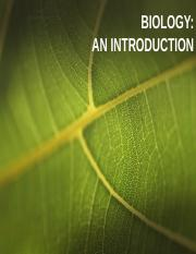 1. Biology Introduction