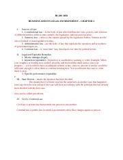 #1 Outline for Business and Its Legal Environment.docx