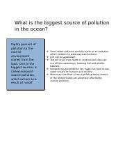 What is the biggest source of pollution in the ocean.docx