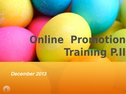 Online Promotion Training - P2