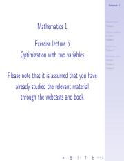 Math 1 Exercise lecture 6 - Optimization with two variables NO PAUSES.pdf