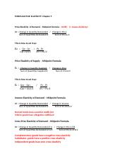FORMULAS FOR  ELASTICITY- Chapter 5(1).docx