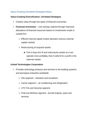 Value Creating Unrelated Strategies Notes