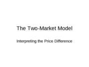 The_Two-Market_Model