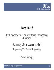 UCLA ENG 201 course  -- lecture 17 -- risk management, course summary so far -- Siegel.pptx
