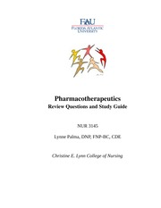 2013 Pharmacotherapeutics Review Questions (1)
