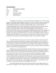 POLS_Gas Tax Increase_Policy Memo 2