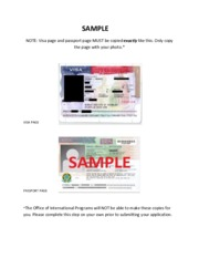 4. Sample Visa and Passport