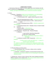 Anatomy 215 Endocrine Notes