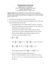 2007 Spring Midterm #1 Solutions