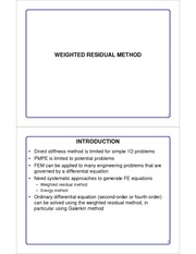 Lecture 6 Weighted Residual Method