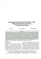 Employee Data Mining Readiness in The Malaysia Insurance Industry
