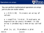 Lec02 - Machine model, Matlab introduction, and arrays.23