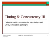Lect 16 - Timing & Concurrency III