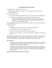 01 Goal Setting Discussion and Activity (Working Copy - 16 Apr 15)