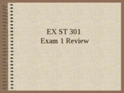 EX ST 301 exam 1 review