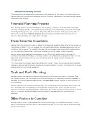 The Financial Planning Process.docx