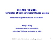 EE121B 2014F Lecture 5-BJT