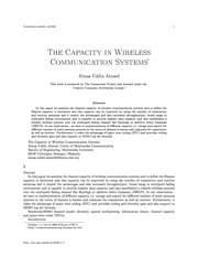 The Capacity  in Wireless Communication Channels