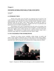 Fourth Generation Reactor Concepts