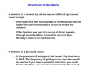 Reversion of deletions