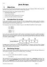 Notes5 Java Arrays