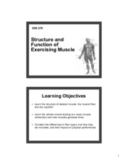 2 - CH 1 - Muscle Physiology