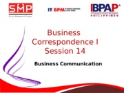 Module 14- Business Correspondence I