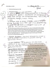 ESPM C10 Midterm 2 Questions and Solutions