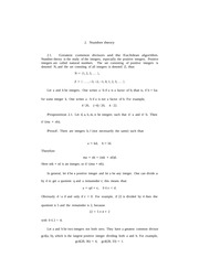 Lecture notes on Number Theory