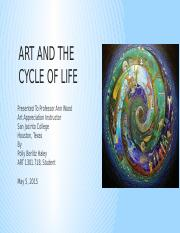 Art and the cycle of life